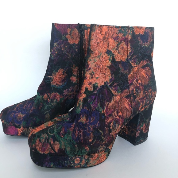 Primark Shoes   Boots Floral Tapestry